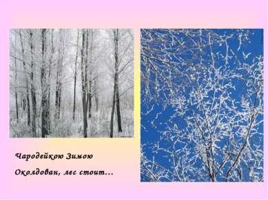 Чародейкою Зимою Околдован, лес стоит…