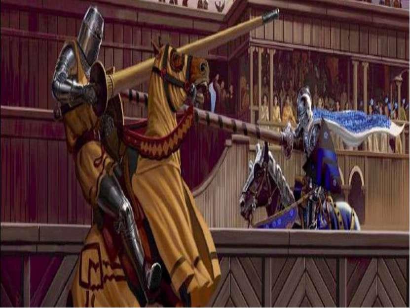 Главное занятие рыцаря – война. В мирное время рыцари охотились и участвовали...