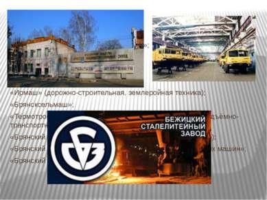 Крупные предприятия: «Брянский машиностроительный завод»; «Бежицкий сталелите...