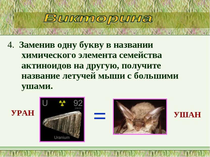 4. Заменив одну букву в названии химического элемента семейства актиноидов на...