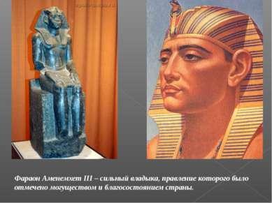 Фараон Аменемхет III – сильный владыка, правление которого было отмечено могу...