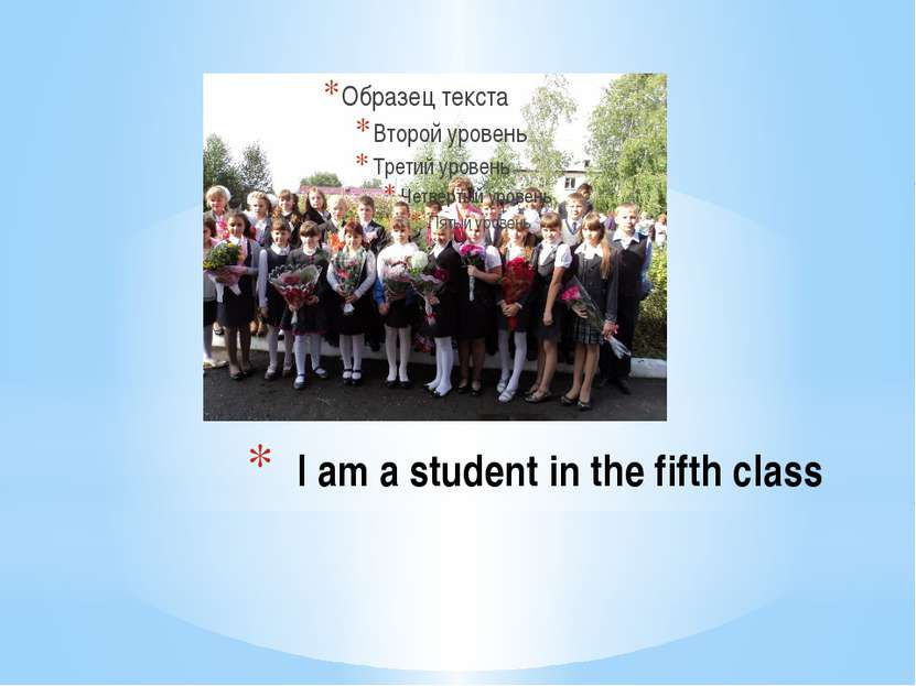 I am a student in the fifth class