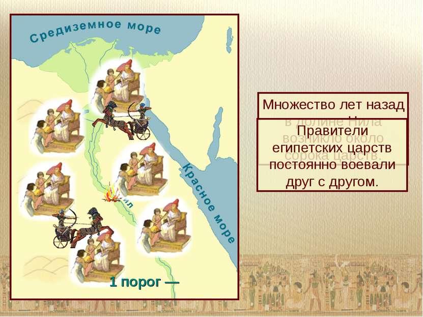 Множество лет назад в долине Нила возникло около сорока царств. Правители еги...