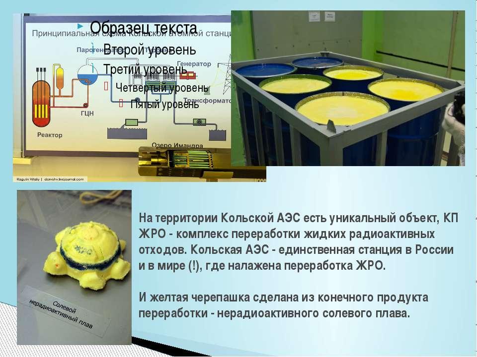 На территории Кольской АЭС есть уникальный объект, КП ЖРО - комплекс перерабо...