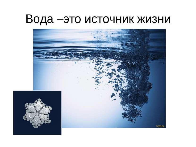 Вода –это источник жизни