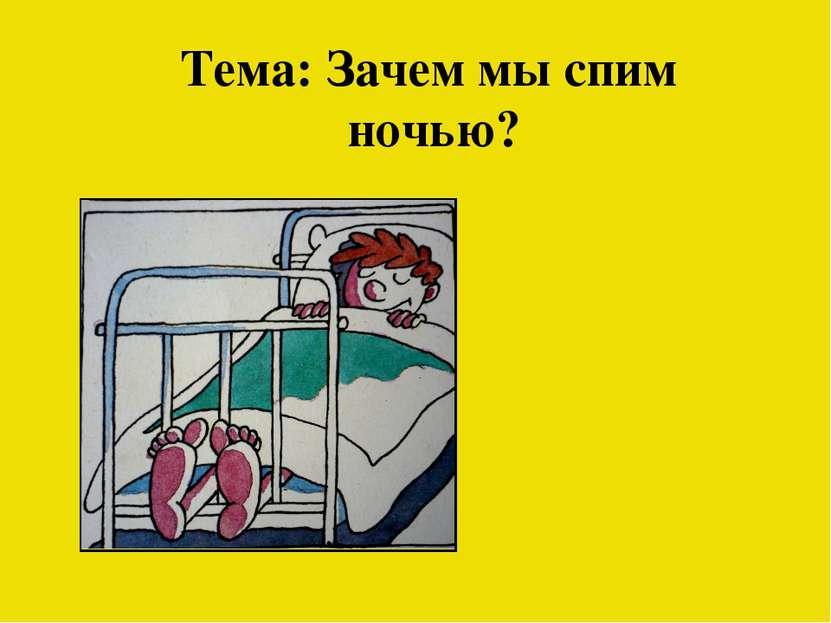 Тема: Зачем мы спим ночью?