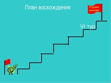 План восхождения VI тур Страна знаний
