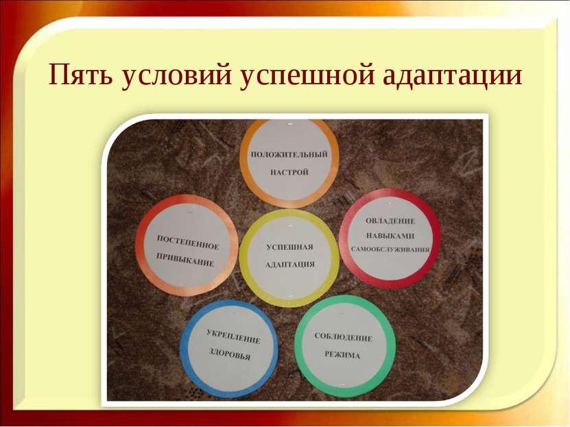Пять условий успешной адаптации