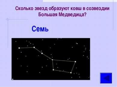Сколько звезд образуют ковш в созвездии Большая Медведица? Семь