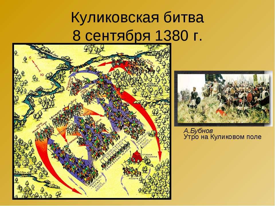Куликовская битва 8 сентября 1380 г. А.Бубнов Утро на Куликовом поле