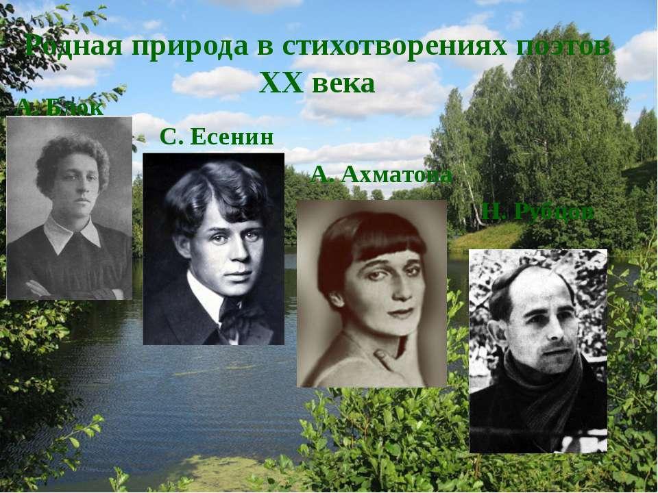 Родная природа в стихотворениях поэтов XX века А. Блок С. Есенин А. Ахматова ...