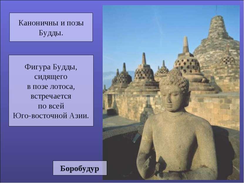 Каноничны и позы Будды. Фигура Будды, сидящего в позе лотоса, встречается по ...