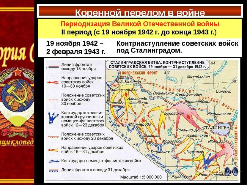 Коренной перелом в войне Периодизация Великой Отечественной войны IIпериод(с1...