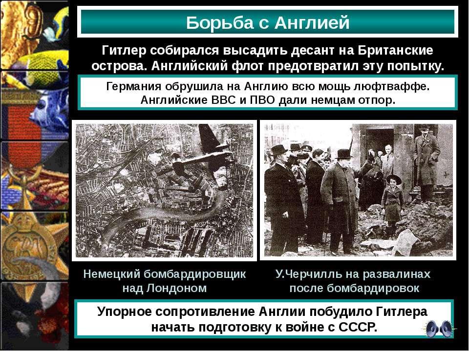 Борьба с Англией Гитлер собирался высадить десант на Британские острова. Англ...