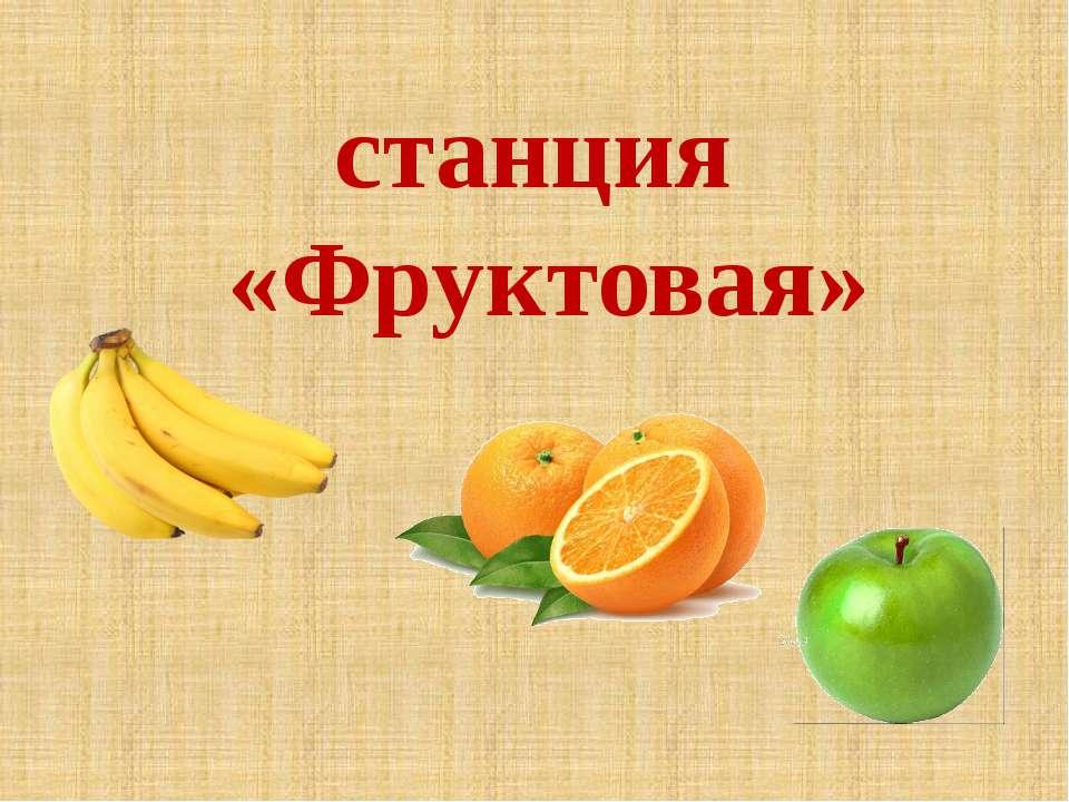 станция «Фруктовая»