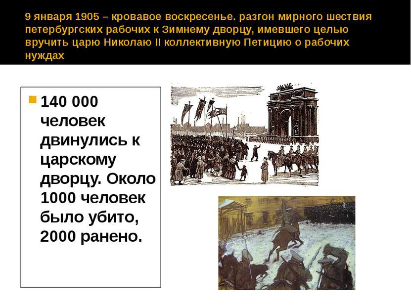 9 января 1905 – кровавое воскресенье. разгон мирного шествия петербургских ра...