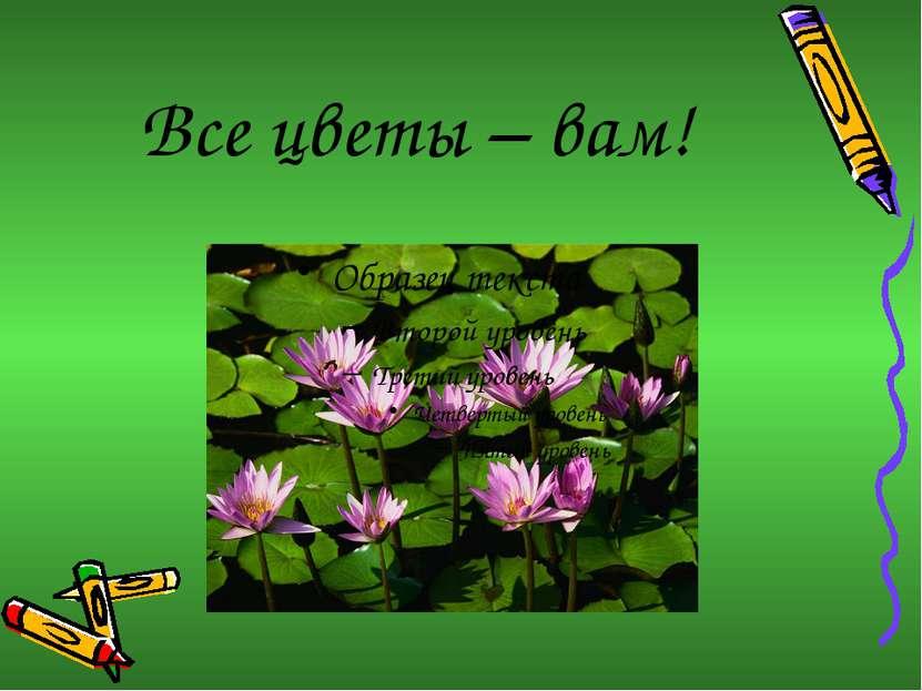 Все цветы – вам!