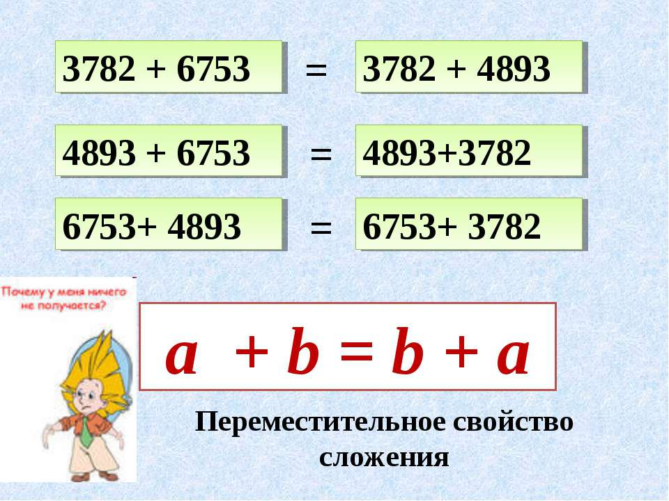 3782 + 6753 4893+3782 4893 + 6753 6753+ 4893 3782 + 4893 6753+ 3782 = = = a +...