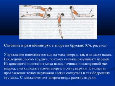 Сгибание и разгибание рук в упоре на брусьях (См. рисунок) Упражнение выполня...