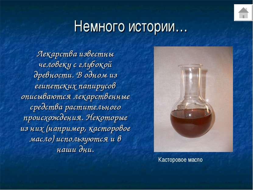 Немного истории… Лекарства известны человеку с глубокой древности. В одном из...