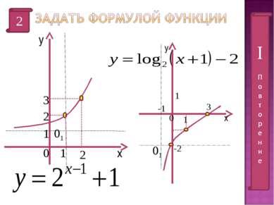 2 х у 2 2 3 0 1 1 х у 0 1 1 -1 -2 3 01 01