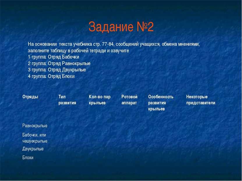 Задание №2 На основании текста учебника стр. 77-84, сообщений учащихся, обмен...