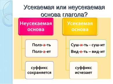 Усекаемая или неусекаемая основа глагола?