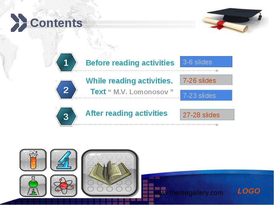 Contents 1 While reading activities. 2 After reading activities 3 Before read...