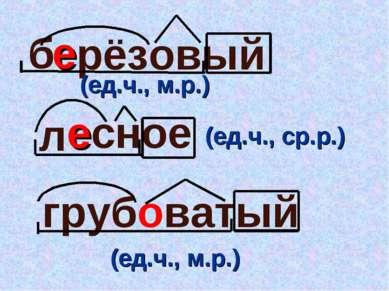 рёзовый сное б л грубоватый е е (ед.ч., ср.р.) (ед.ч., м.р.) (ед.ч., м.р.)