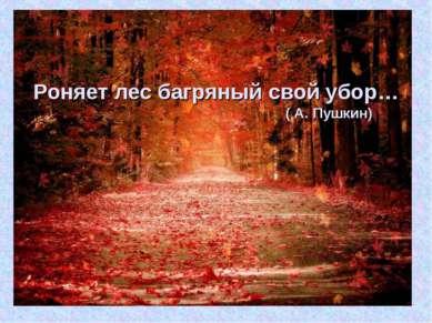 Роняетлесбагряныйсвойубор… ( А. Пушкин)