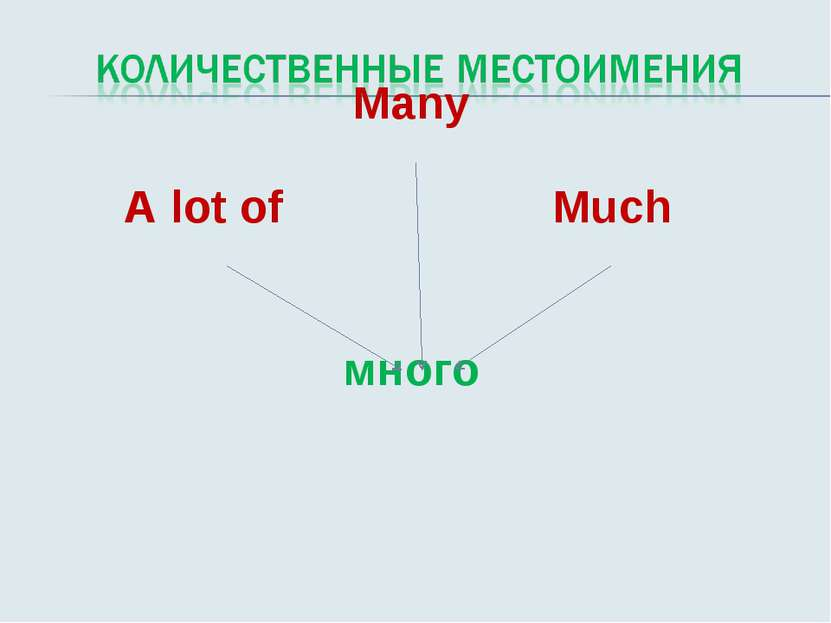 Many А lot of Much много