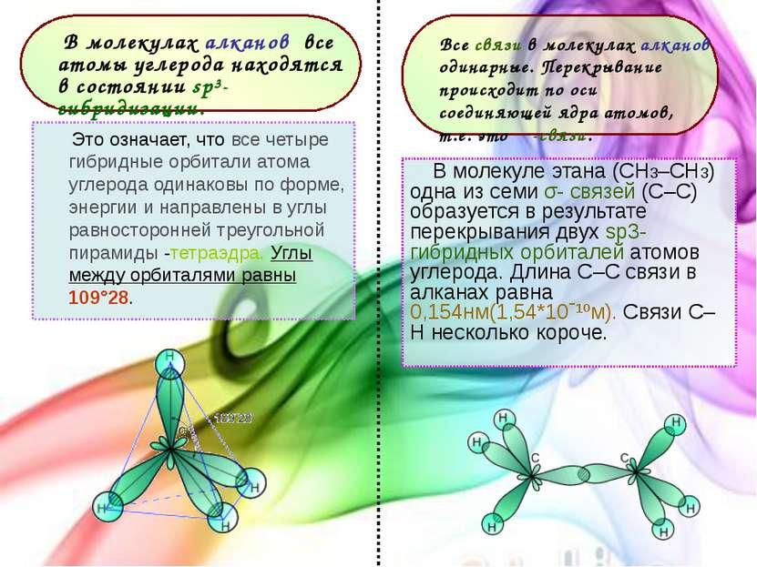 Это означает, что все четыре гибридные орбитали атома углерода одинаковы по ф...