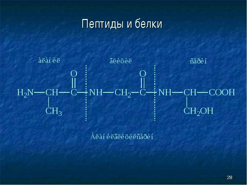 * Пептиды и белки