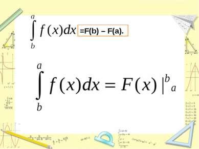 =F(b) – F(a).