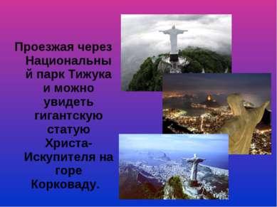 Проезжая через Национальный парк Тижука и можно увидеть гигантскую статую Хри...