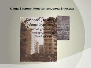 Улица Василия Константиновича Блюхера