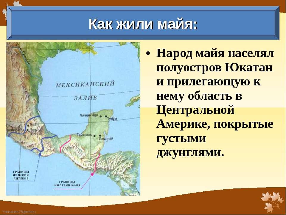 Народ майя населял полуостров Юкатан и прилегающую к нему область в Центральн...