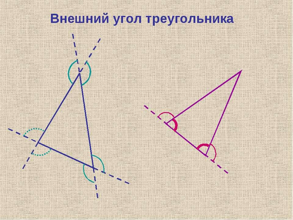 Внешний угол треугольника