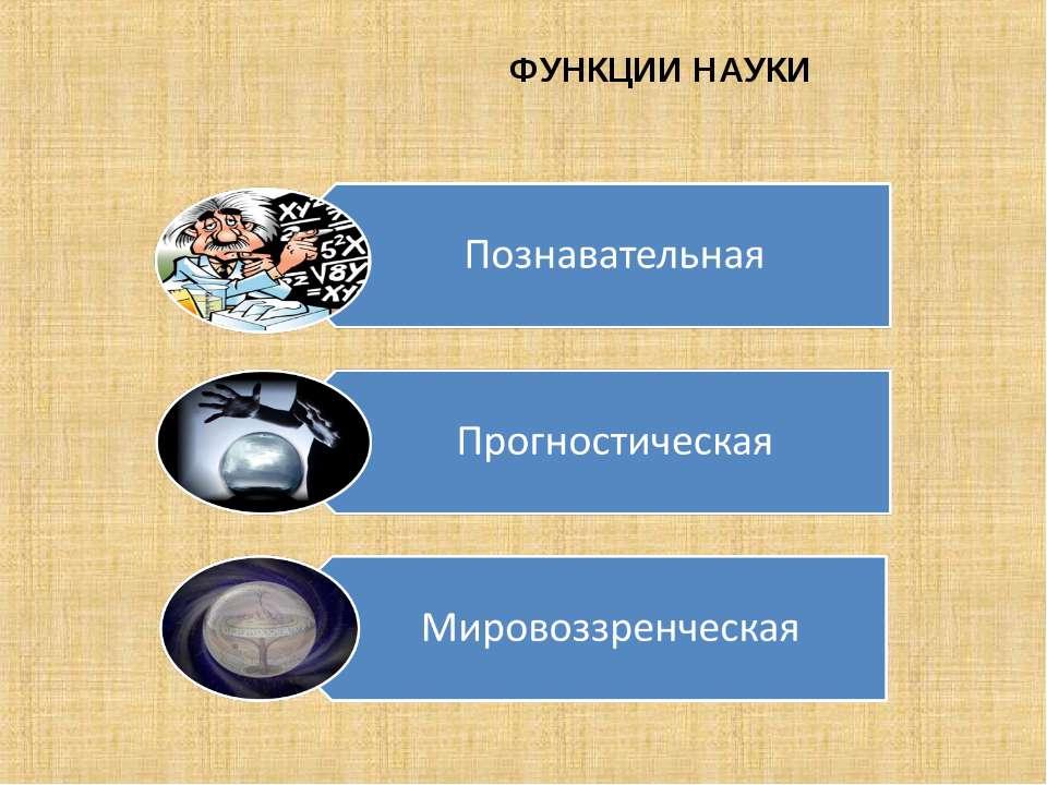 ФУНКЦИИ НАУКИ