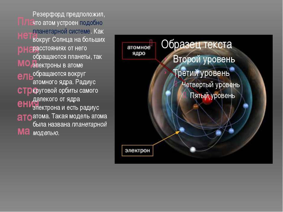 Планетарная модель строения атома Резерфорд предположил, что атом устроен под...