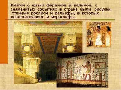 Книгой о жизни фараонов и вельмож, о знаменитых событиях в стране были рисунк...