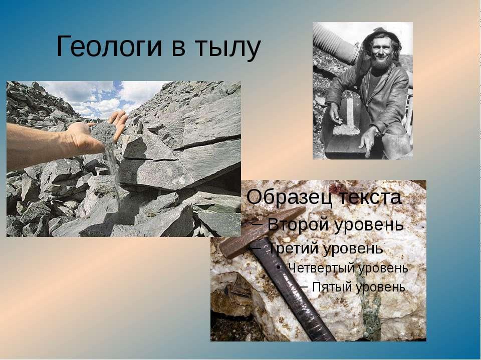 Геологи в тылу