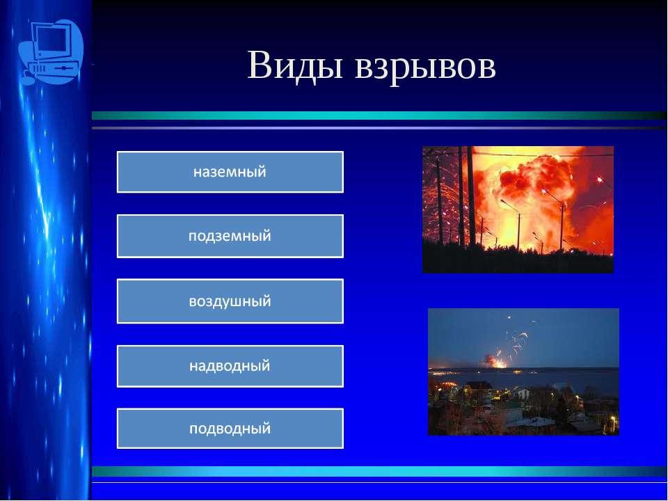Виды взрывов