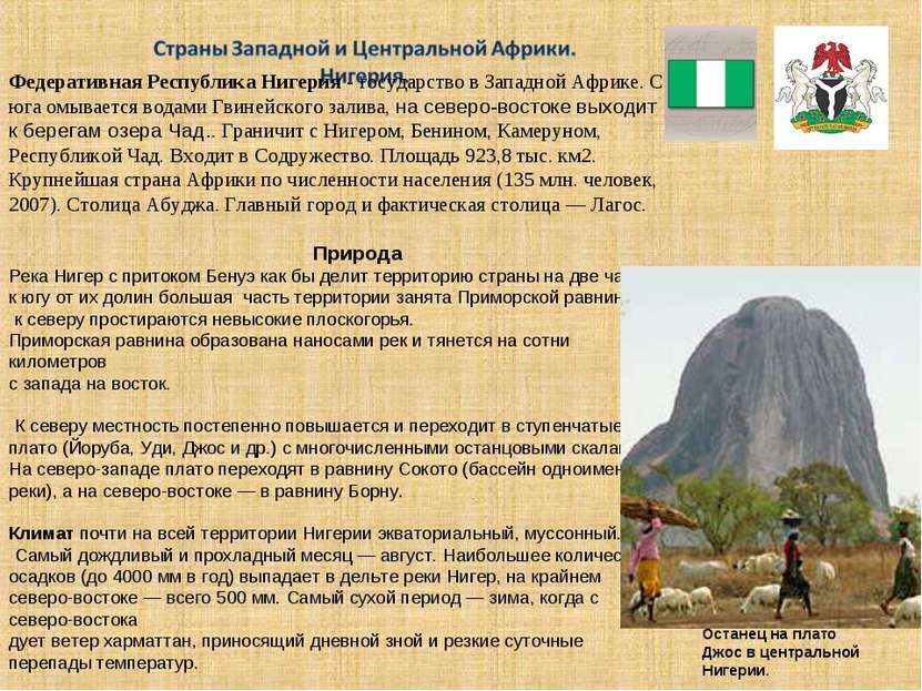 Федеративная Республика Нигерия - государство в Западной Африке. С юга омывае...