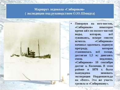 Повернув на юго-восток, «Сибиряков» некоторое время шёл по полосе чистой воды...