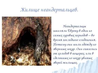 Жилище неандертальцев. Неандертальцы населяли Европу в один из самых суровых ...