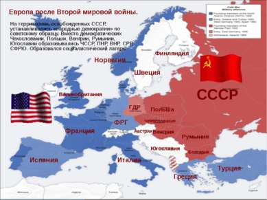 Европа после Второй мировой войны. СССР Польша Румыния Венгрия Болгария Чехос...