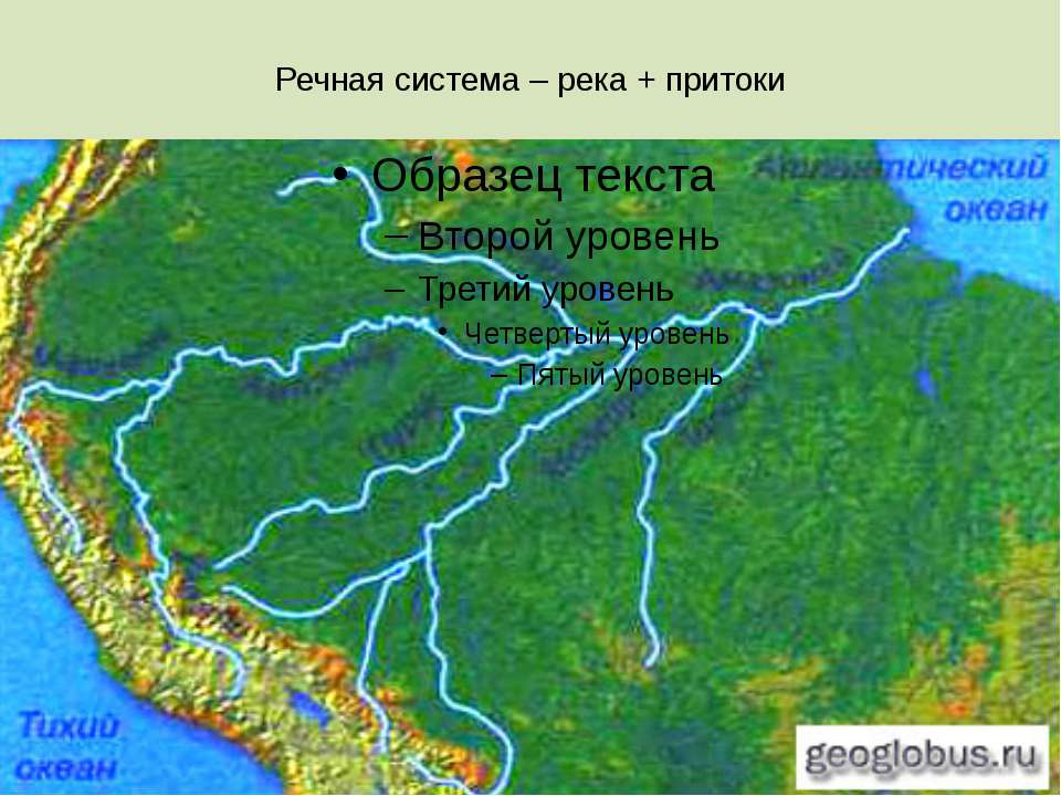 Речная система – река + притоки