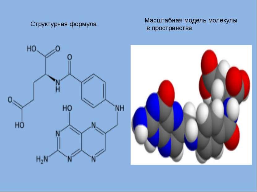 Структурная формула Масштабная модель молекулы в пространстве