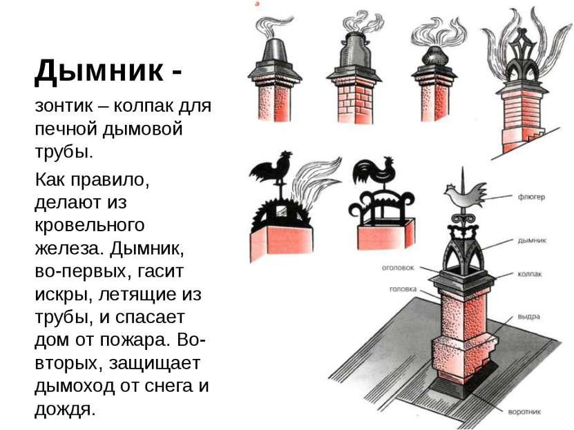 Дымник - зонтик – колпак для печной дымовой трубы. Как правило, делают из кро...